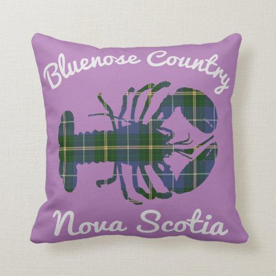 Bluenose Country N.S. Tartan Lobster purple Throw Pillow