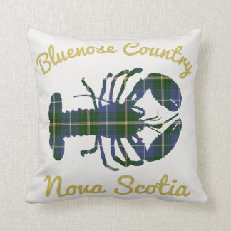 Bluenose Country Nova Scotia Tartan Lobster Cushion