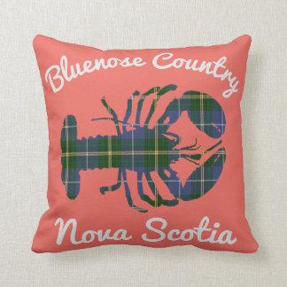 Bluenose Country Nova Scotia Tartan Lobster salmon Cushion