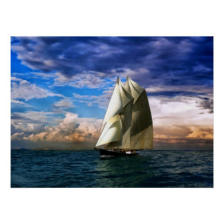Bluenose schooner poster