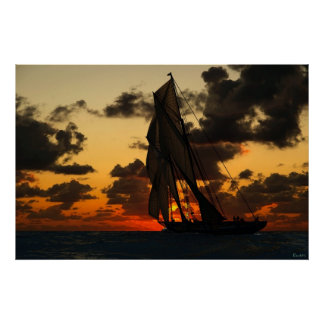 Bluenose Sunset Poster