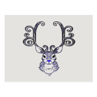Bluenoser Blue nose Reindeer cute deer   postcard