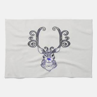 Bluenoser Blue nose Reindeer cute deer towel
