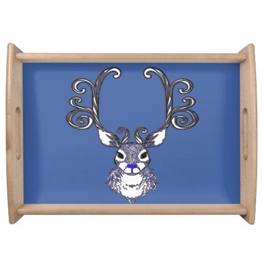 Bluenoser Blue nose Reindeer cute deer tray