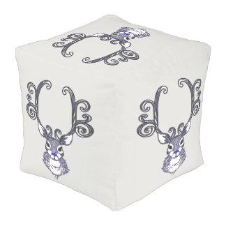 Bluenoser Blue nose Reindeer cute pouf pillow