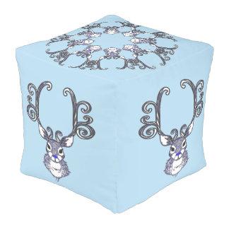 Bluenoser Blue nose Reindeer cute snowflake pouf