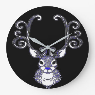 Bluenoser Blue nose Reindeer cute wallclock