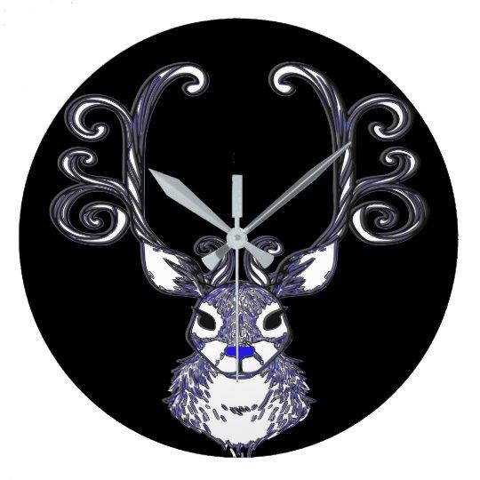 Bluenoser Blue nose Reindeer cute wallclock