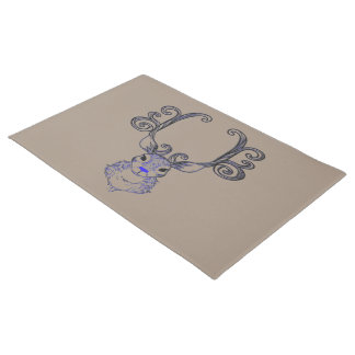 Bluenoser Blue nose Reindeer cute welcome mat