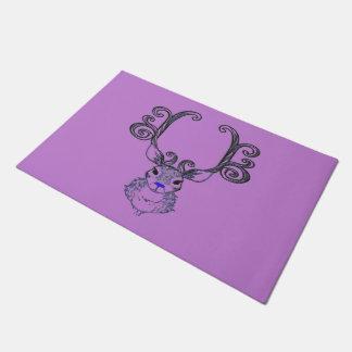 Bluenoser Blue nose Reindeer cute welcome mat