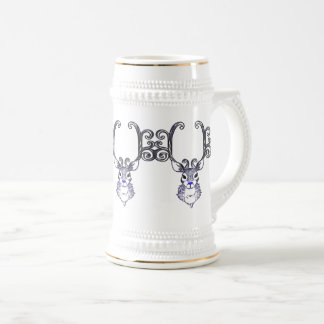 Bluenoser Blue nose Reindeer deer  beer stein