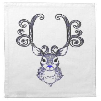 Bluenoser Blue nose Reindeer deer cloth napkin
