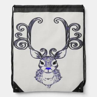 Bluenoser Blue nose Reindeer deer drawstring bag