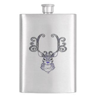 Bluenoser Blue nose Reindeer deer flask