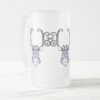 Bluenoser Blue nose Reindeer deer frosted beer mug