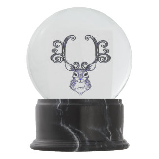 Bluenoser Blue nose Reindeer deer snow globe