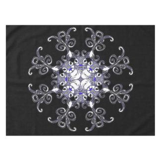 Bluenoser Blue  Reindeer deer snowflake tablecloth