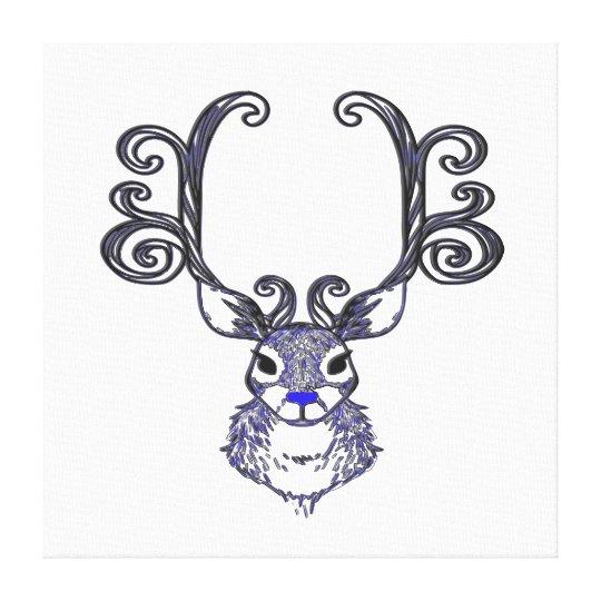 Bluenoser N.S. Blue  Reindeer deer print art