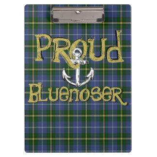 Bluenoser Nova Scotia anchor clip board tartan
