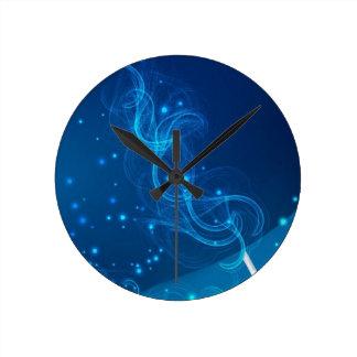 BlueOverPink Round Clock