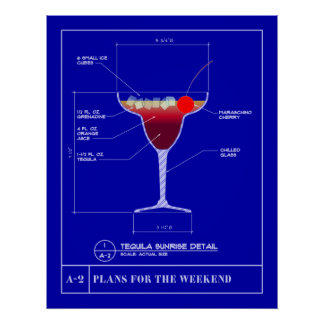 Blueprint for a Tequila Sunrise Poster