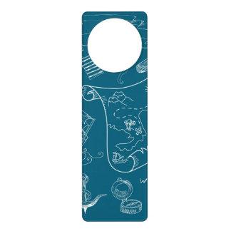 Blueprint Nautical Graphic Pattern Door Hanger