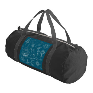 Blueprint Nautical Graphic Pattern Gym Bag