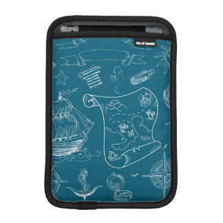 Blueprint Nautical Graphic Pattern iPad Mini Sleeve
