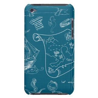 Blueprint Nautical Graphic Pattern iPod Case-Mate Case