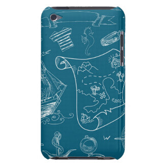 Blueprint Nautical Graphic Pattern iPod Touch Case-Mate Case