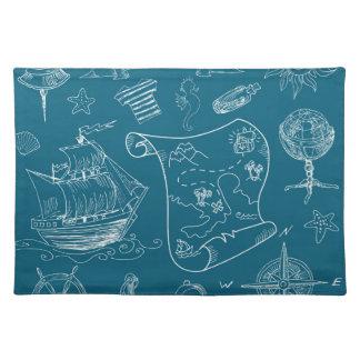 Blueprint Nautical Graphic Pattern Placemat