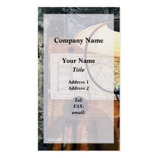 Blueprint Of Gear Business Card Templates