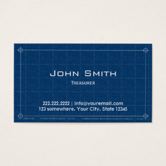 Blueprint Treasurer Business Card