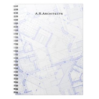 Blueprints Spiral Notebook