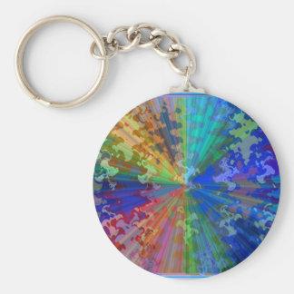 Blueray Spectrum : Circular Sparkle Breaker Key Chain