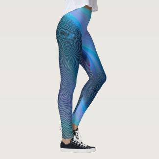Blues Abstract Leggings