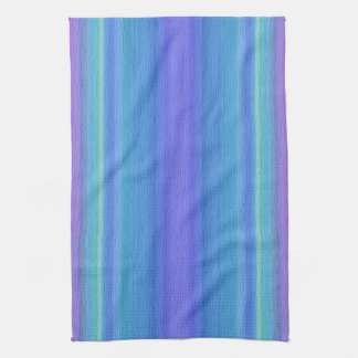 Blues and Purple Striped Kitchen Towel
