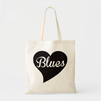 Blues Big Heart Jade Tote Bag