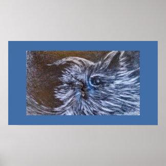 Blues Cat art by CFW Poster
