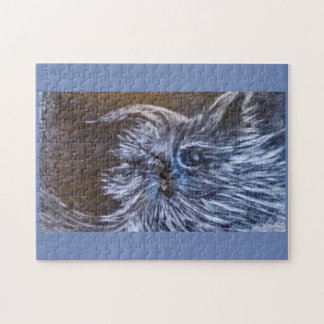 Blues Cat fantasy art by cfw Puzzle