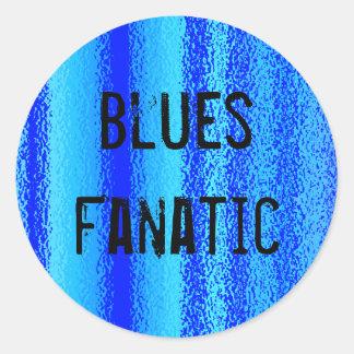 Blues fanatic stickers