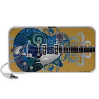 blues guitar doodle speakers