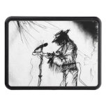 Blues Guitar Player and Band on Stage Trailer Hitch Covers