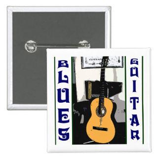 Blues Guitar Square Button
