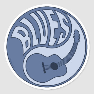 Blues Guitar Yin Sticker