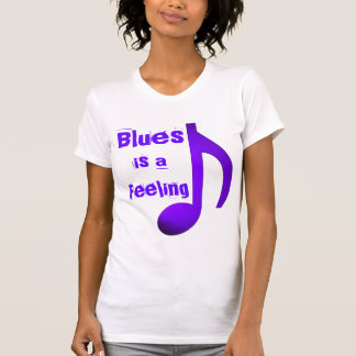 Blues is a Feeling Purple Blue Music Eighth Note T-shirts
