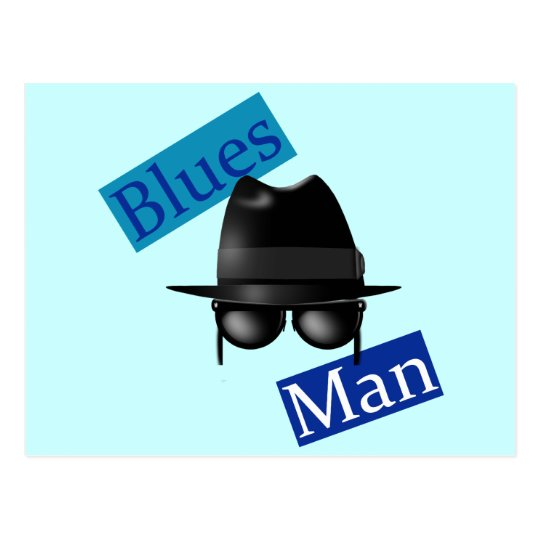 Blues Man Postcard