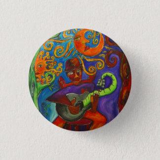 Blues Man   Round Button