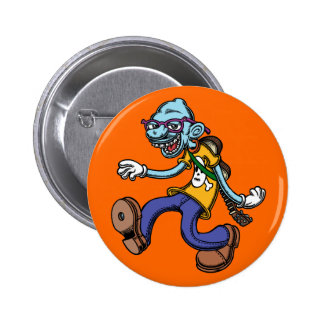 Blues Man Walking 6 Cm Round Badge