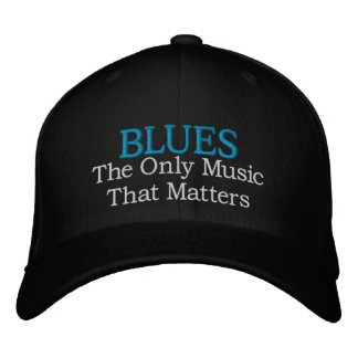 Blues Music Embroidered Cap
